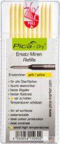 PICA-DRY® jelölőmarker betét, letörölhető, sárga, 1 csomag