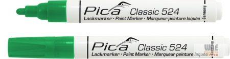 Pica Classic 524 festékes jelölő, zöld, 10 darabos csomagban